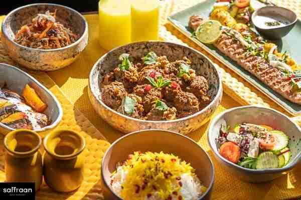 Saffraan Restaurant Menu